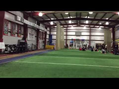Charles Curtis runs the 40-yard dash at TEST Football Academy