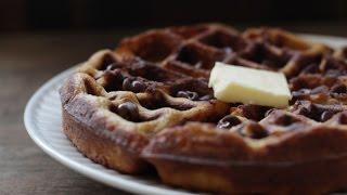 Gluten + Dairy Free Chocolate Chip Pumpkin Waffles