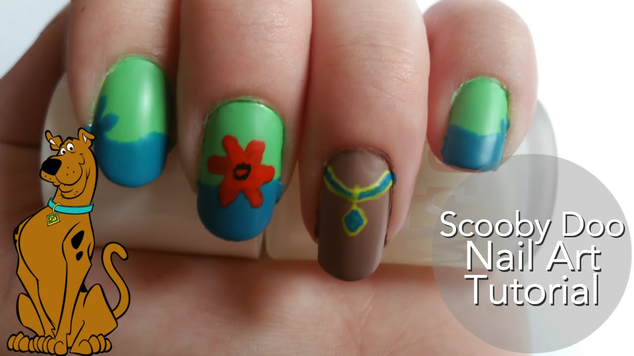 Scooby doo nail art tutorial youtube prinsesfo Image collections
