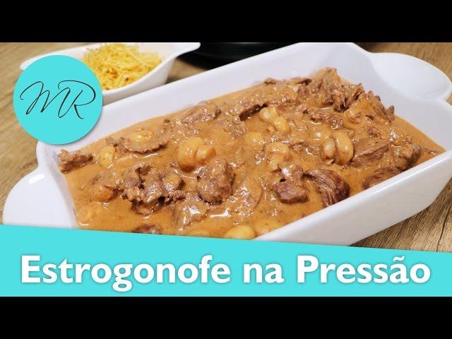 Estrogonofe na Panela de Pressão Elétrica (Strogonoff) - Receitas na Pressão