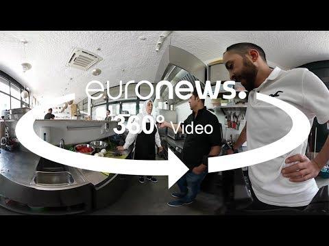 مطعم للاجئين سوريين في لشبونة لتقديم المأكولات والتبادل الثقافي... تعرفوا عليه 360 درجة  - 18:22-2018 / 7 / 18