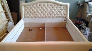 Перетяжка мебели в Омске.Реставрация кровати!!!(Перетяжка кровати., 2016-03-27T15:24:23.000Z)