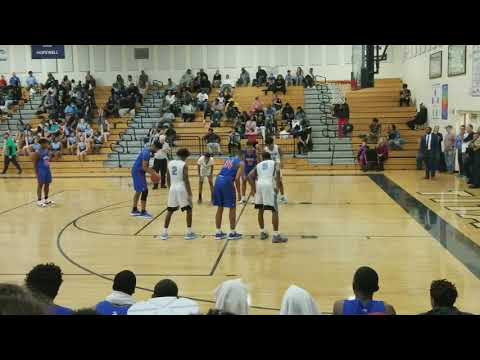 North Meck 6'6 Forward Corban Strother  34 gets seal for lob pass