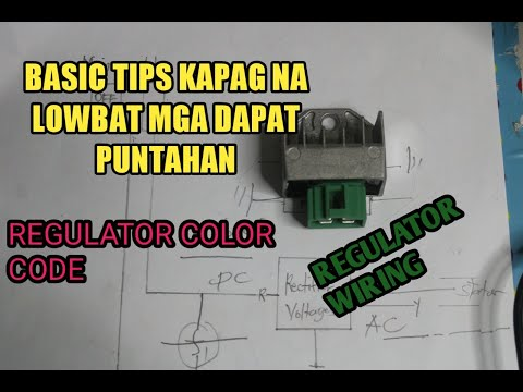 4 Wire Regulator wiring diagram and connection/Rectifier Voltages tutorial  (philippines)(Asia) - YouTubeYouTube