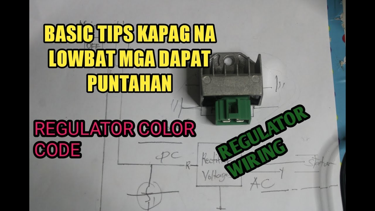 4 Wire Regulator Wiring Diagram And Connection Rectifier Voltages Tutorial Philippines Asia Youtube