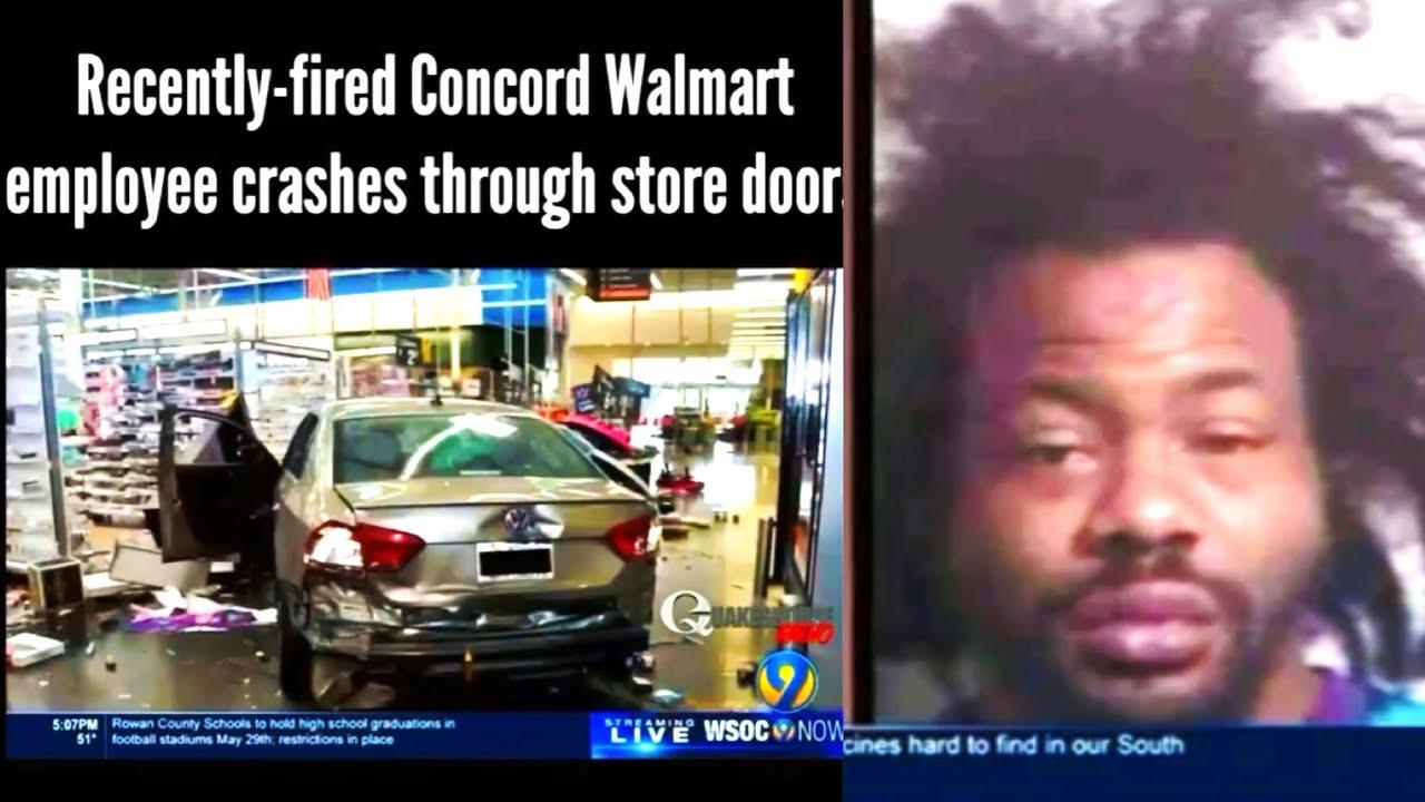 Man Lost hit Job.  & Drives His Car Into Walmart Super-Center.