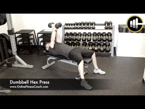 How To: Dumbbell Hex Press