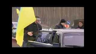 активісти полтавського євромайдану вшанували 95-ту річницю проголошення Акту Злуки автопробігом