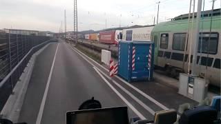 Погрузка фуры на поезд, г. Фрейбург, Германия. Необычный день в профессии