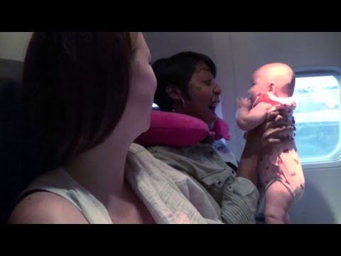 Mom Reunites With Stranger Who Soothed Her Crying Baby on Flight