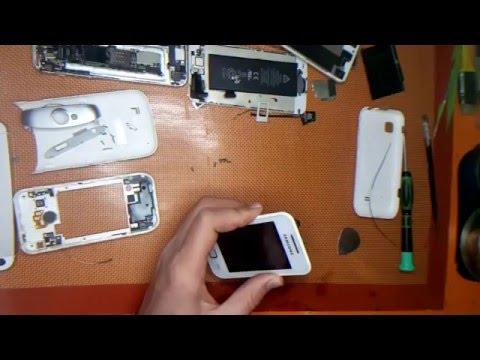 Samsung wave 525 açılmama sorunu , on of tuşu switch değişimi - disassembly and repair