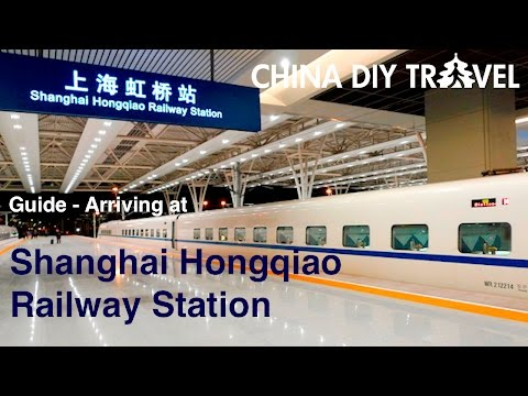 Arriving at the Shanghai Hongqiao Railway Station