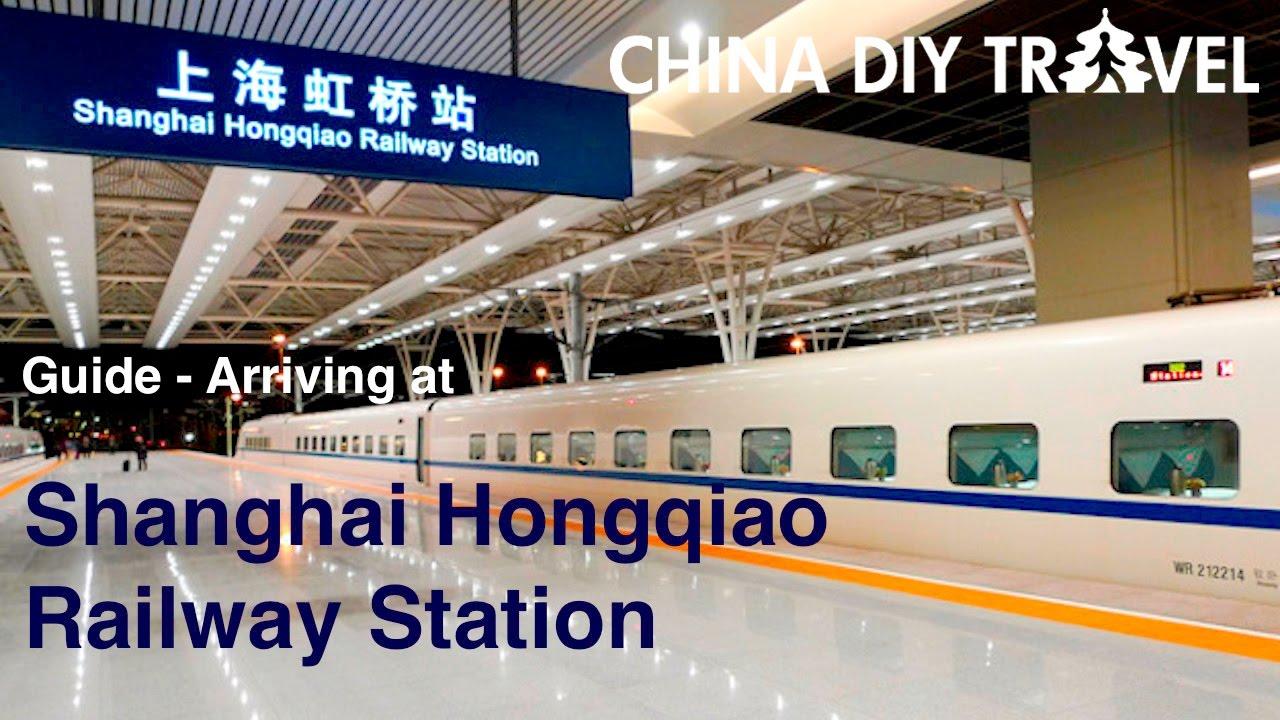 Shanghai Railway Station Subway Map.Arriving At The Shanghai Hongqiao Railway Station