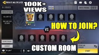 HOW TO JOIN CALL OF DUTY MOBILE PRIVATE (CUSTOM) ROOMS | COD MOBILE PRIVATE ROOM