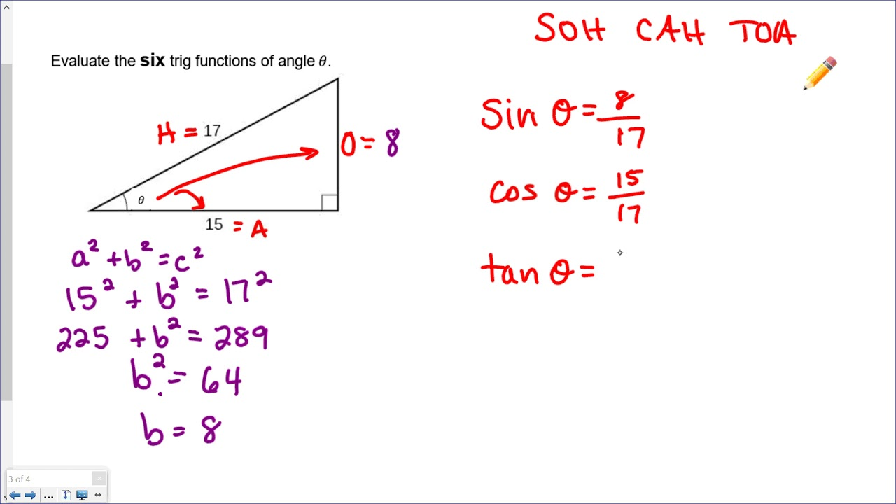 Evaluating All SIX Trig Functions   YouTube