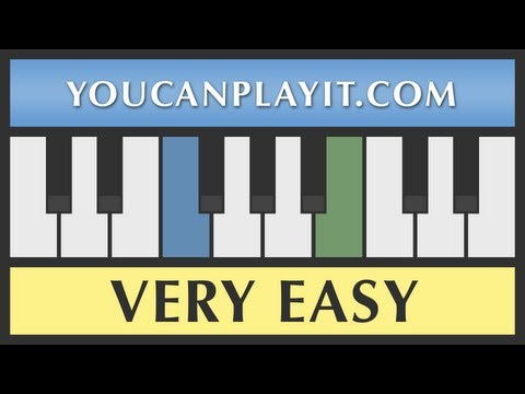 Amazing Grace - Very Easy Piano Tutorial - How to Play