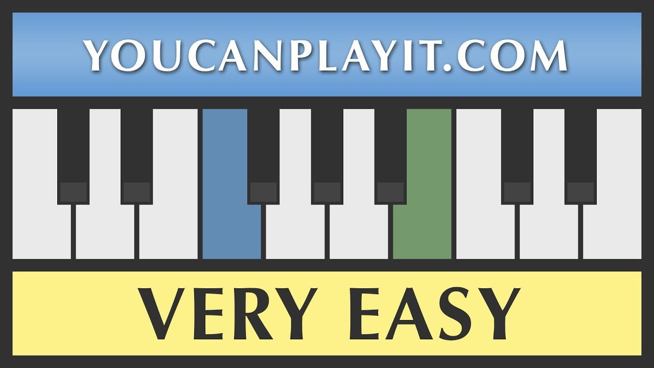 Amazing grace very easy piano tutorial how to play youtube hexwebz Choice Image