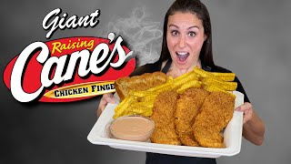 We Made GIANT Raiṡing Cane's Chicken Tenders // VERSUS