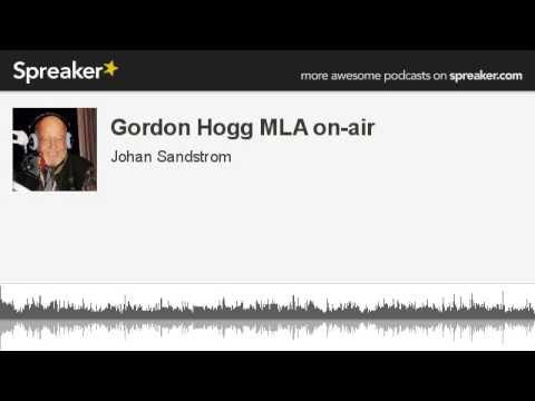 Gordon Hogg MLA on-air , on Benefits of Sports in our Communities