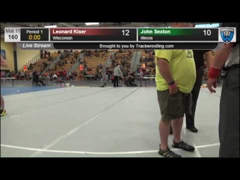 2287 Cadet Men 160 Leonard Kiser Wisconsin vs John Sexton Illinois 7862687104