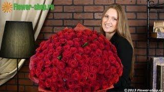Букет «101 роза Гран При»(Потрясающий объемный букет «101 роза Гран При» - это Ваше признание в любви и минуты незабываемого восторга..., 2013-02-12T06:11:08.000Z)