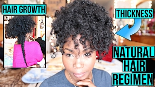 Natural Hair Regimen for Hair GROWTH & THICKNESS   Moisturizers, Shampoos & Conditioners