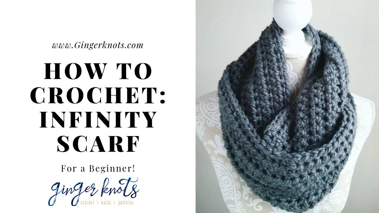How to crochet an easy infinity scarf: Crochet Tutorial for ...