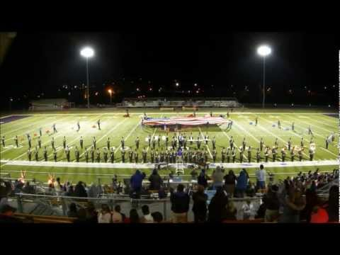 Union County High School Pride of the Mountains Band Vs Social Circle 11/2/12 Halftime