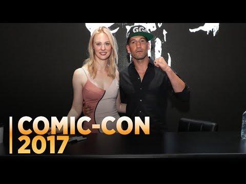 THE PUNISHER: Jon Bernthal and Deborah Ann Woll at Comic-Con 2017