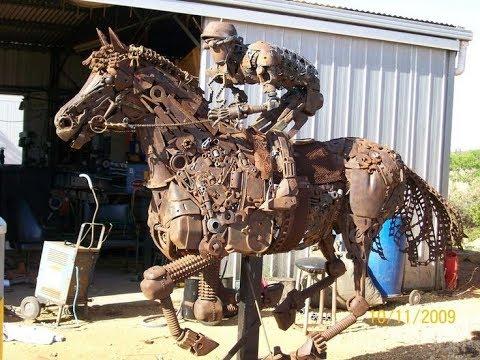 Scrap Metal art || Animal Sculptures made by Scrap Metal