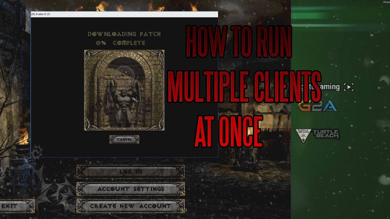 HOW TO Run Multiple Diablo II Clients in 1 14D PATCH! [NEW]
