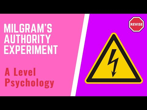 As Psychology - Milgram's Obedience To Athourity