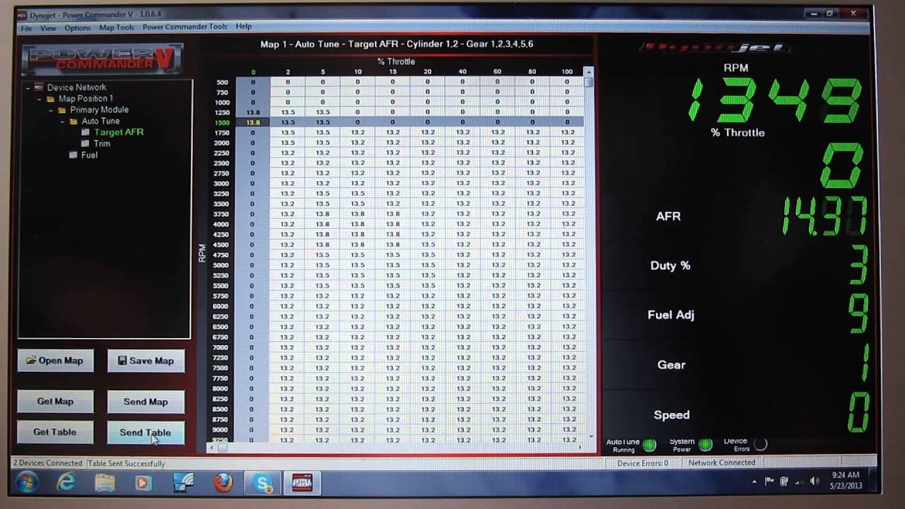 Dynojet PC-5 Autotune idle AFR adjusting