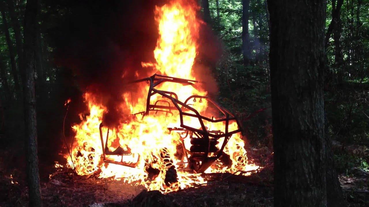 Polaris Ranger Xp 900 >> Polaris RZR XP burns to the ground, on fire! - YouTube