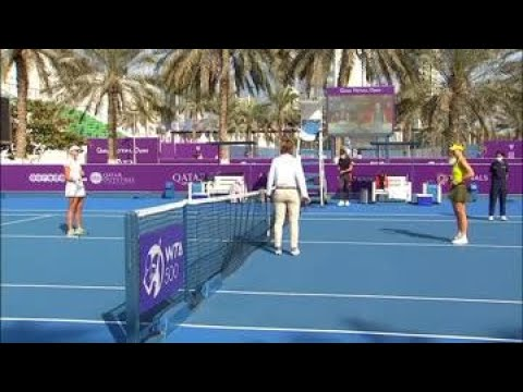 Anett Kontaveit vs. Angelique Kerber | 2021 Doha Round 2 | WTA Match Highlights