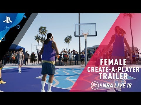 NBA LIVE 19 - Female Create-A-Player | PS4