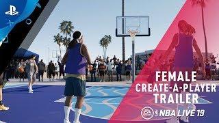 NBA LIVE 19 - Female Create-A-Player | PS4