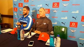 Blue Bulls coach John Mitchell and captain Nick de Jager