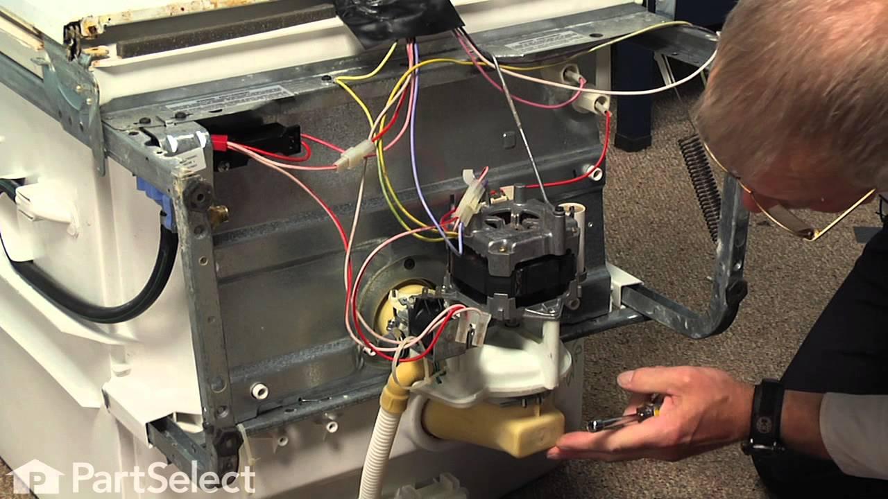 Dishwasher Repair Replacing the Motor and Pump Kit (GE