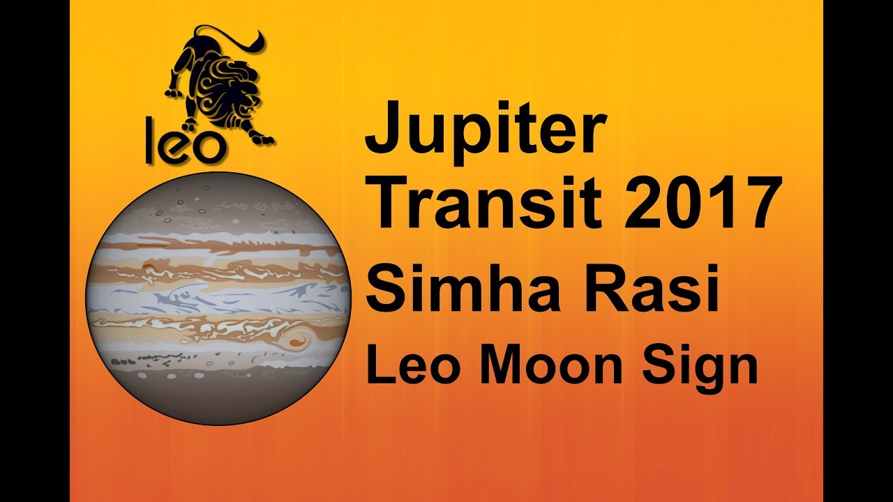 Jupiter transit 2017 simha rasi leo moon sign