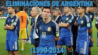 Las Eliminaciones de Argentina en los Mundiales (1990-2014)