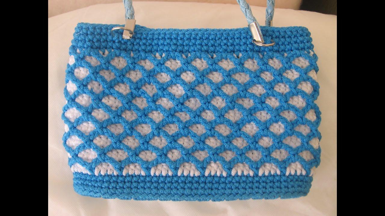 Como hacer carteras a crochet youtube - Como hacer bolsos tejidos ...