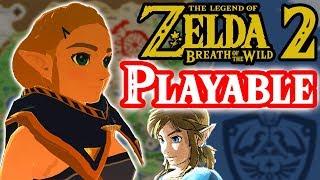 Playable Zelda in Breath of the Wild 2