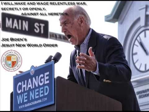 Catholic Jesuit Joe Biden Calls for A NWO