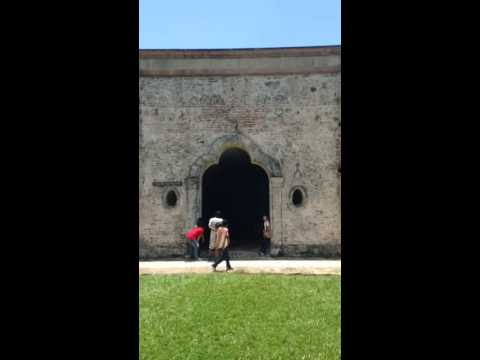 Tour guide with a beautiful voice at San Fernando Fortress in Omoa Honduras