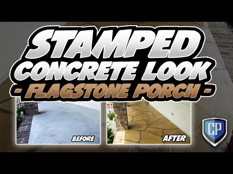 Stamped Concrete Look   Flagstone Porch   YouTube