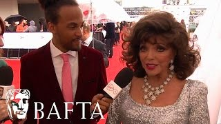 Dame Joan Collins Red Carpet Interview | BAFTA TV Awards 2017
