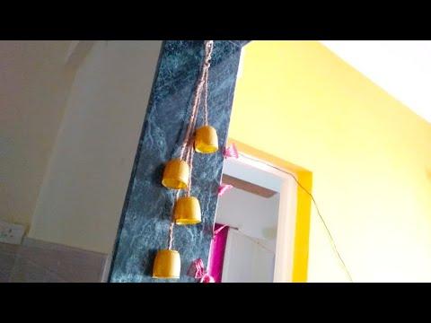 Wind chime using bottle caps//hanging decor/diy wind chime(eng subtitles)/బాటిల్ మూతలతో అందమైన డెకర్