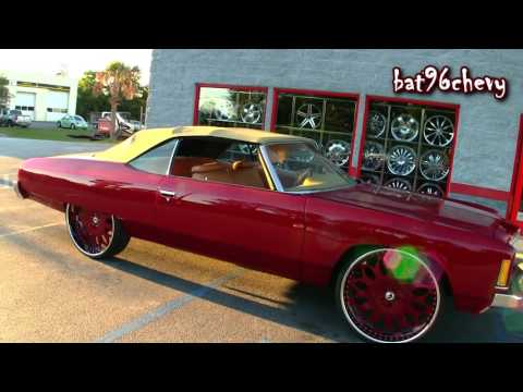ULTIMATE AUDIO: Candy Red '74 Chevy Caprice Donk Convertible on 28
