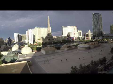 Bellagio Fountains - View from 8th Floor Room